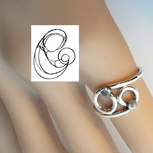 Family (Mother & Child) Ring - Solid Sterling