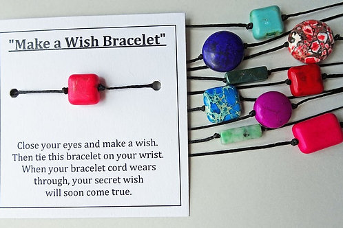 Sets of 10 - Make a Wish Bracelets