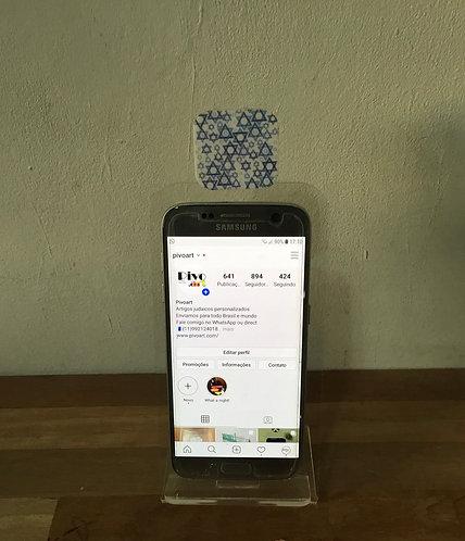 Display para celular personalizado estrelas