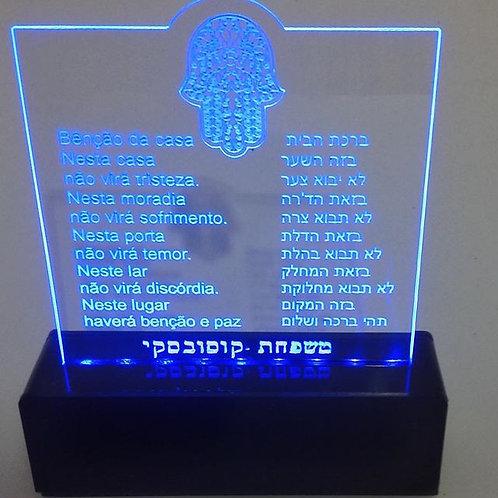 Luminária Benção da Casa Port/hebraico