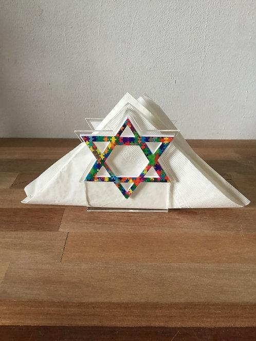 Porta guardanapo Estrela de Davi