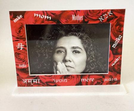 Porta retrato Mãe rosas