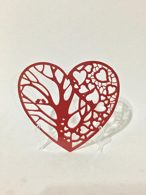 Coração com suporte