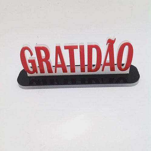 Gratidão -enfeite