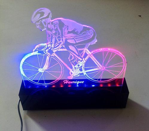 Luminária de bike