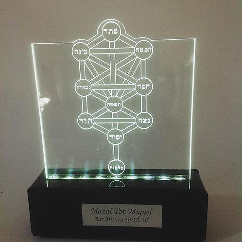 Luminária  Arvore da Vida -Kabbalah