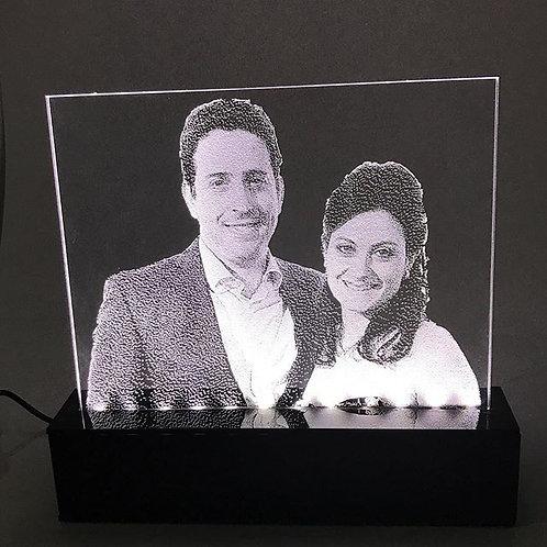 Luminária de led com foto