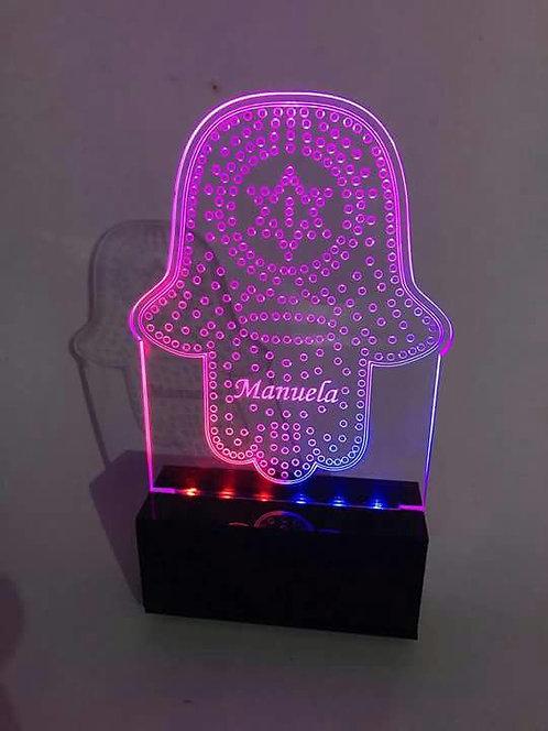 Luminária Hamsa com Maguen David