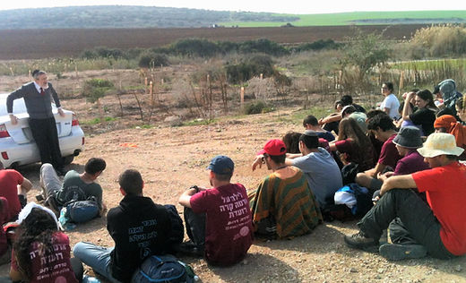Youth as part of Rabbi Melchior