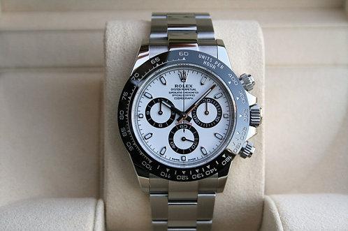 Rolex Cosmograph Daytona Stainless White Dial Black Ceramic Bezel 116500