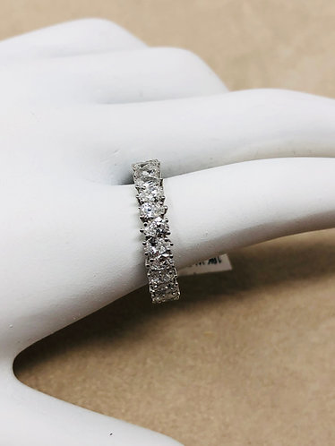 18K White Gold 2CT Pear Shaped VS Quality Eternity Band