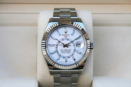 Rolex Sky-Dweller 42mm White Dial Stainless Steel 326934
