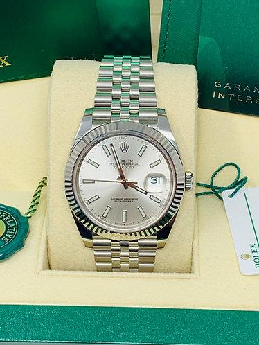 Rolex 41MM DateJust 126334 jubilee Silver Dial 2020 *UNWORN*