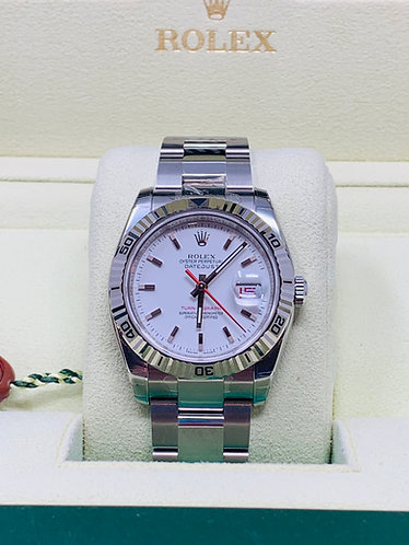 Rolex 116264 Datejust Turn- O- Graph Full Set NOS *Collectible Item*