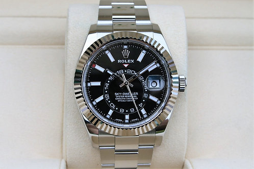 Rolex Sky-Dweller 42mm Black Dial Stainless Steel 326934