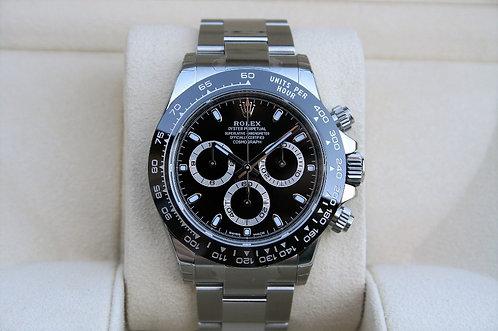Rolex Cosmograph Daytona Stainless Black Dial Black Ceramic Bezel 116500