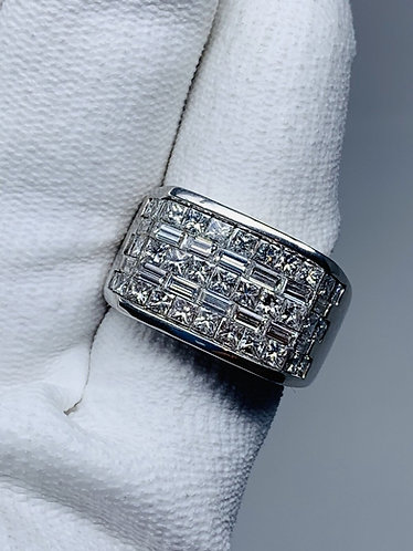 18K White Gold Men's Diamond Ring | Top Quality Diamonds |