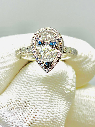 Platinum Pear Shaped Diamond Engagement Ring *GIA CERTIFIED*