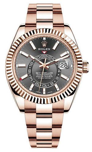 Rolex Sky-dweller 42MM Rose Gold 326935 with Rhodium Dial
