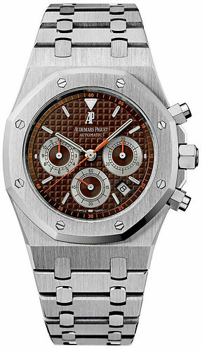 """Audemars Piguet Royal Oak 39 MM Chronograph """"Havana"""" Brown Dial MINT CONDITION"""