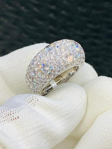 10CT Dome Shaped Diamond Ring Top Quality VS Diamonds