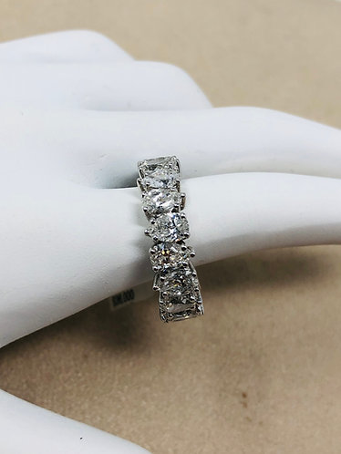 18K White Gold 5.52CT Pear Shaped VS Quality Eternity Band