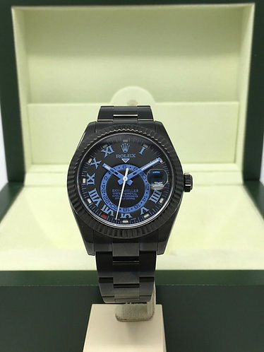 Rolex Sky-Dweller 326934 Black Pvd With Blue Dial