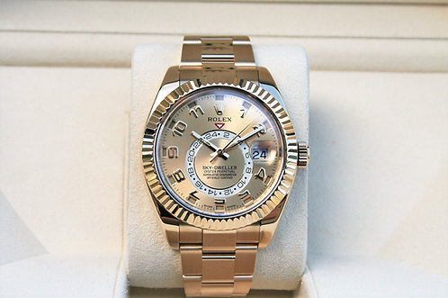 Rolex Sky-Dweller Yellow Gold Champagne Arabic Dial 326938