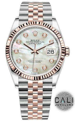 Rolex Datejust 18K Rose Gold Stainless Steel w/ Factory MOP Diamond Dial 116231