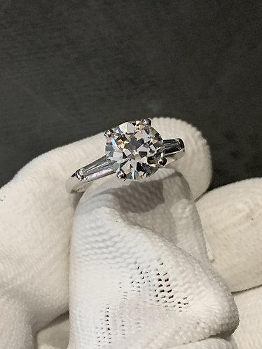 2.18 Carat Round Brilliant Diamond Ring Platinum *GIA Certified*