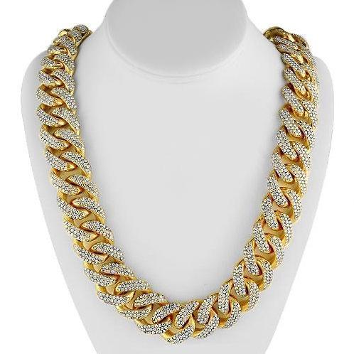 Yellow Gold Diamond Cuban Chain