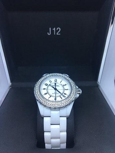 Chanel J12 Automatic Two-Row Diamond Bezel 38mm