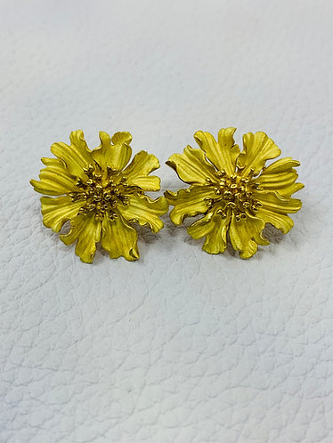 18K Gold Tiffany & Co Flower Earrings