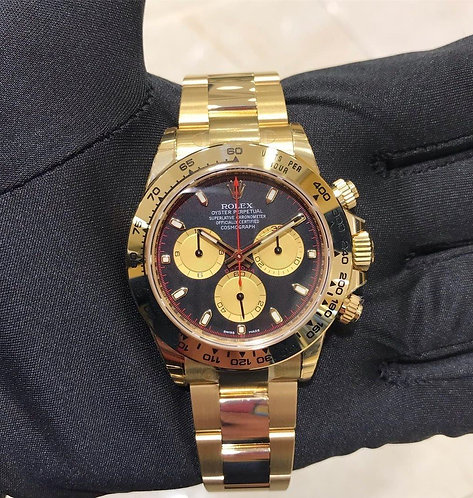 Rolex Daytona 116508 Paul Newman Black Dial Gold
