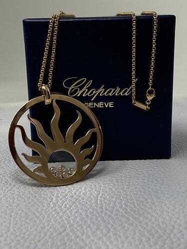 Chopard Happy Diamonds Sun Pendant in 18k Rose Gold