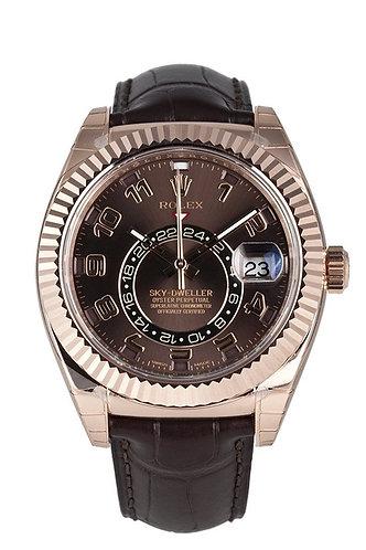 Rolex Sky-Dweller 42MM Chocolate Arab Dial 18K Rose Gold 326135 *UNWORN*