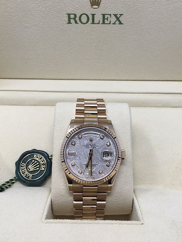 Rolex Everose President with Factory Meteorite Diamond Dial *MINT*