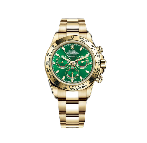 Rolex Cosmograph Daytona Yellow Gold Green Dial  116508