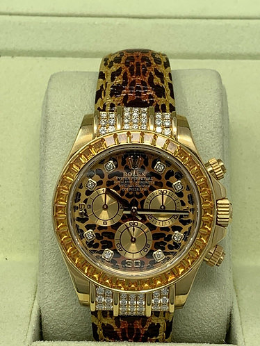 "FULL SET Rolex Cosmograph Daytona ""LEOPARD"" Special Edition Yellow Gold MINT"