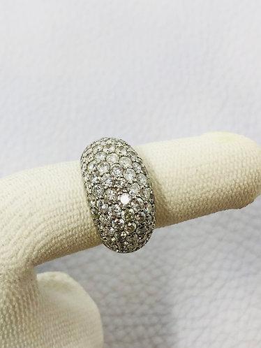 Platinum Diamond Dome Shaped Ring *VS QUALITY*