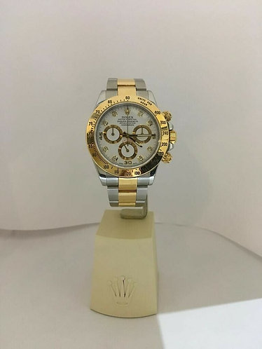 Rolex Daytona Two Tone Factory Diamond Dial Box & Papers 116523