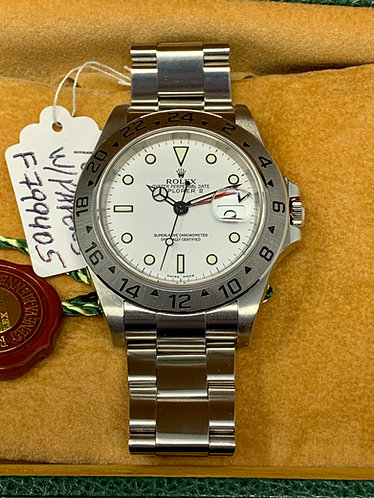 Rolex Explorer II Ref. 16570 WHITE POLAR DIAL *No Holes* Box & Papers