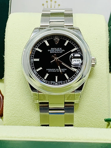 Rolex Midsize Datejust Black Dial 178240 Full Set *BRAND NEW FULLY STICKERED*
