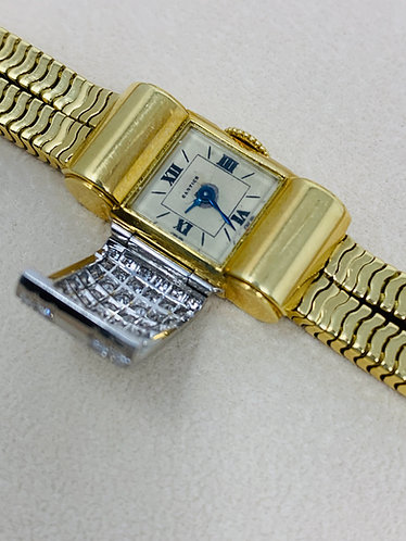 Cartier 1940s 18K Yellow Gold Ladies Watch w/Factory Diamonds *Extremely Rare*