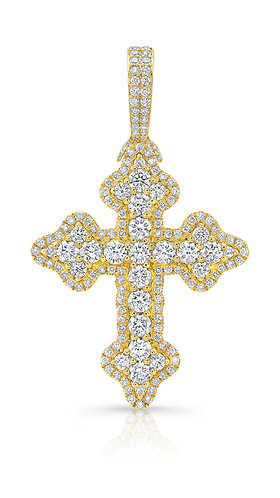 Custom-Made Diamond Cross Pendant