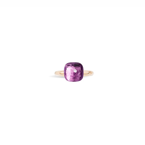 "Pomelatto ""Nudo Classic Collection"" Amethyst 18K Rose Gold Ring"