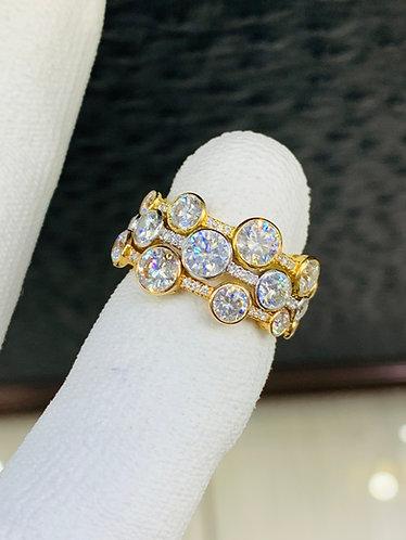 18K Diamond Stacking Rings Designer Piece VS Quality