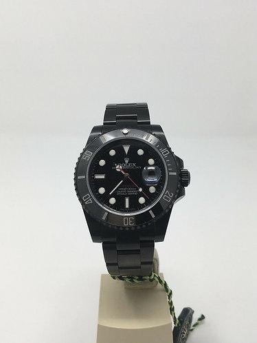 Black ROLEX Ceramic Submariner RED Edition 116610 PVD