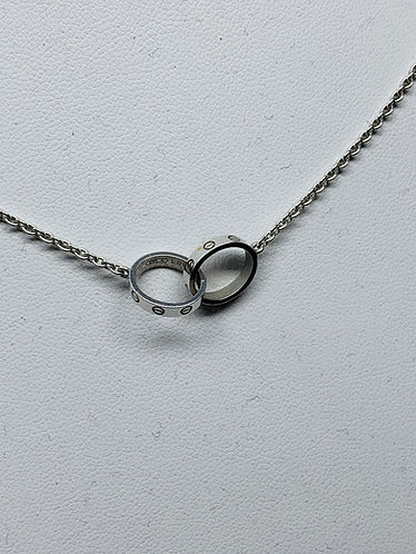 Cartier White Gold Love Necklace