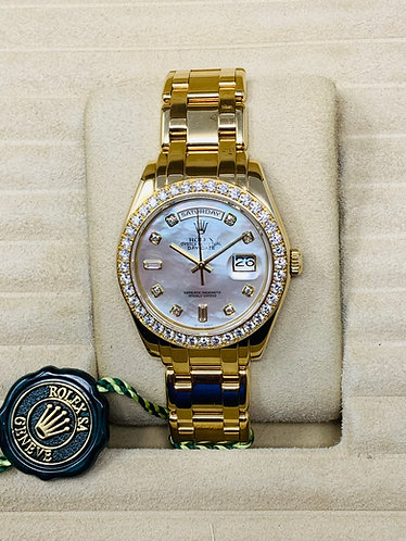 Rolex Masterpiece Ref. 18948 Factory Mother Of Pearl Diamond Dial